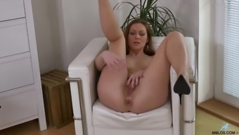 He may spread her legs to effectively masturbate her hairy pussy