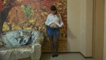 Beautiful Big beautiful woman Legs And Pantyhose