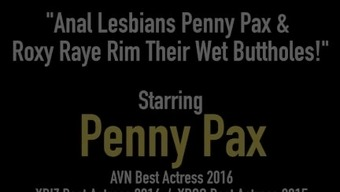 Rectum Lesbians Dollars Pax & Roxy Raye Casing Such a Moist Buttholes!