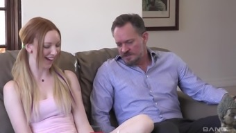 Blowjob giver Katy Kiss interests her one and offers him her cooch