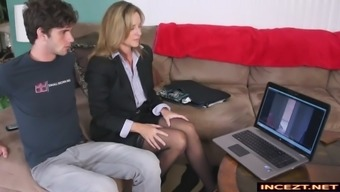 mum and youngster blackmail handjob