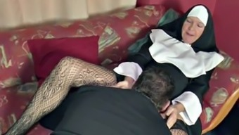 German MILF Nun get fucked by the Pastor in Cathedral