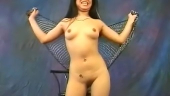 Cute Oriental hooker Miki Chan does a number of sexual, open dancing
