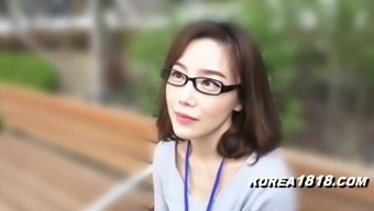 KOREA1818.COM - natural Cutie in eyeglasses