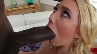 aj applegate assistance huge dark colored penis within the slobbery blowjob