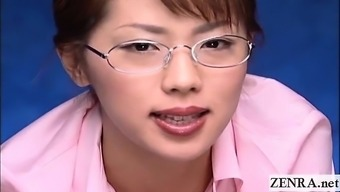 Subtitled CFNM POV Japanese people femdom instructor handjob