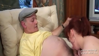 novice round french blonde whore banged by an aged adult man