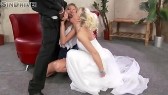 jessie volt and gina gerson attack great dark colored cock, spitting and gagging