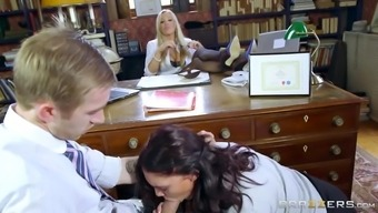 dean rebecca more watches on as emma leigh kissing danny d's schlong