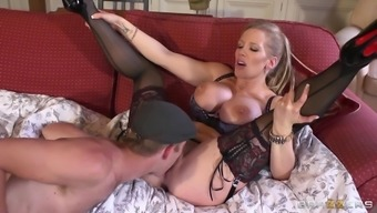 Long-dicked Danny D drip into Rebecca Moore