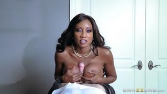 precious stone knutson face fucks and tit fucks her perverted employee's big pole
