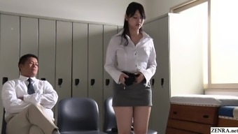 JAV stars twisted coach Rei Mizuna striptease Subtitled