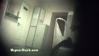 Lovely and awesome white girl in the closet area filmed naked