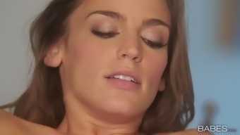 lesbian shyla jennings and ryan ryans use chocolate-flavored syrup for more enjoyable