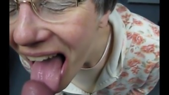 granny swallows sperm such as a good slut