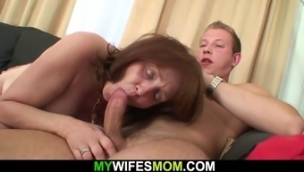 Large tits mothers inlaw tours joystick after shower