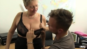 XXX OMAS - Grimy Germany granny normally takes lift at the workplace