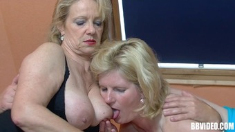 Wild environment granny with a pierced pussy taking pleasure in a hardcore threesome