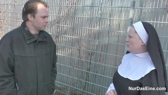 German Little Guy attract Granny Nun to effectively Fuck Him
