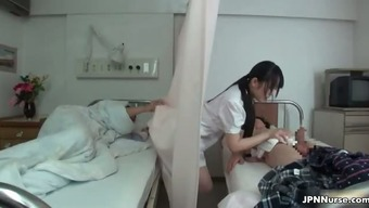 Japanese nurse loves being intimate with two part3