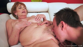 Old bitch Sally G gets her pussy licked and fucked