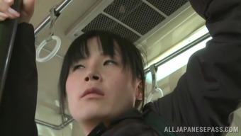 Pleasant From asia cowgirl giving blowjob publicly potty