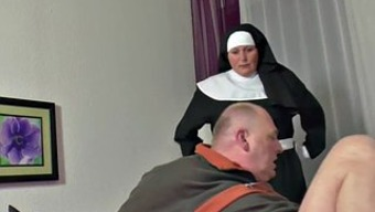 In german Grandma Nun get Fucked along with not dad in SexTape