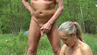 Auto Pulsating, wanking in woodwork and seaside, intercourse along with visitor