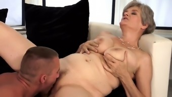 Old excess woman gets wrong through a younger man