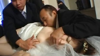 Asian soon to be bride gets intense panel fucking part1