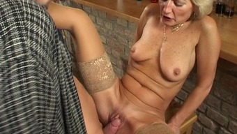 Slutty granny smashed to really solid height with the pub in a possibility send