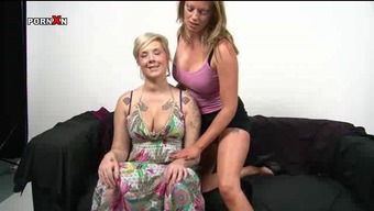 British Lesbians Empty and Mandy Pussy Fisting