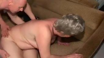 Granny Anal passage Threesome VR88