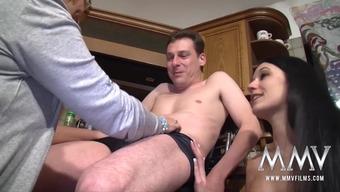 MMV Silver screen adaptations Busty Senior Beginner Threesome