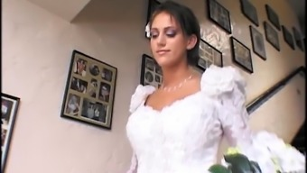 Soon to be bride & a hottie impart a huge cock