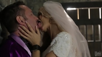 Succulent Jessica Drake Goes Intense In their Wedding Night-time