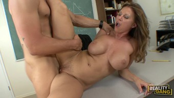 Horny Institution Tutor Devon Lee Getting Fucked By One among Her Naughty Educators