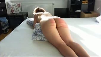 Wild docile major bottomed wifey of my partner got her bum spanked