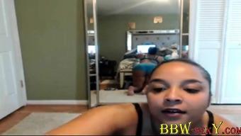 Tempting ebony EllieYabish warm twerking tell BBW-SexY