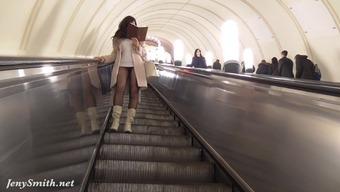 Jeny Smith pantyhose subway pussy instant