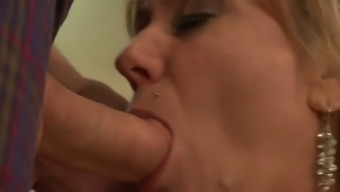 Attractive Senior Mum Cracked in the Kitchen!!!! (Sizzling)