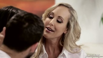Buxom pale mum Brandi Love and her wild Boyfriend are gonna give hard intercourse message to really kinky blond chick