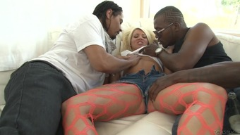 Layla Costs is gangbanged by dark colored nut cocks
