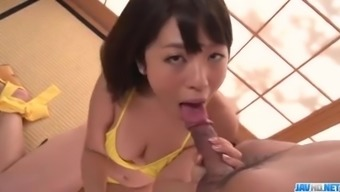 Mother in warms, Wakaba Onoue, treasures sucking on any succulent cock
