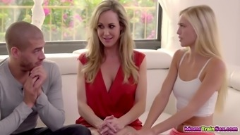 The best milf Brandi Love and young adult Alex Gray fucked