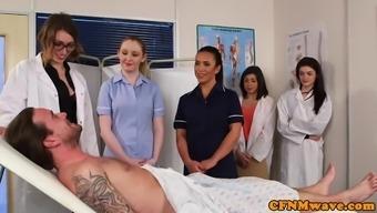 English cfnm nurses tugging and sucking mini