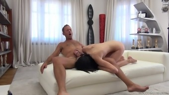 Energetic repeal cowgirl trip with Nikki Captions and Rocco Siffredi