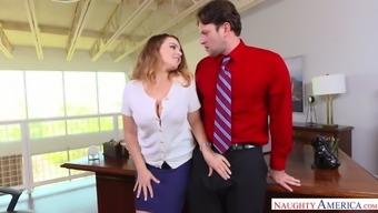 Bf fucks his heated boss Natasha Pleasant in order to keep his task