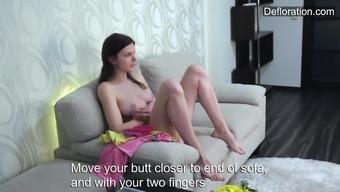Masturbation of unique Aurore