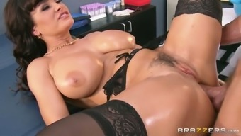 Oversexed blond milf gets her clit fucked in pup and missionary placement